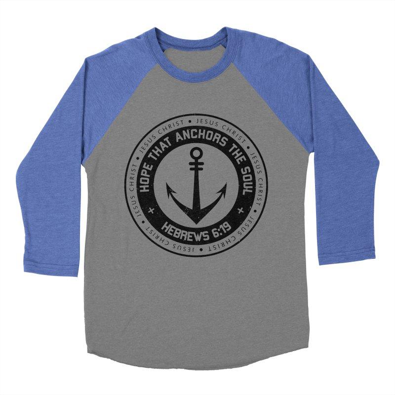 Hebrews 6:19 - Black Men's Baseball Triblend Longsleeve T-Shirt by Light of the World Tees