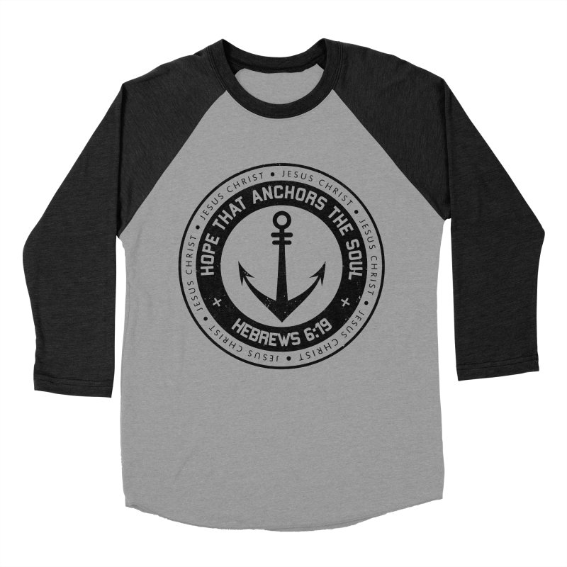 Hebrews 6:19 - Black Men's Baseball Triblend Longsleeve T-Shirt by Light of the World Tees