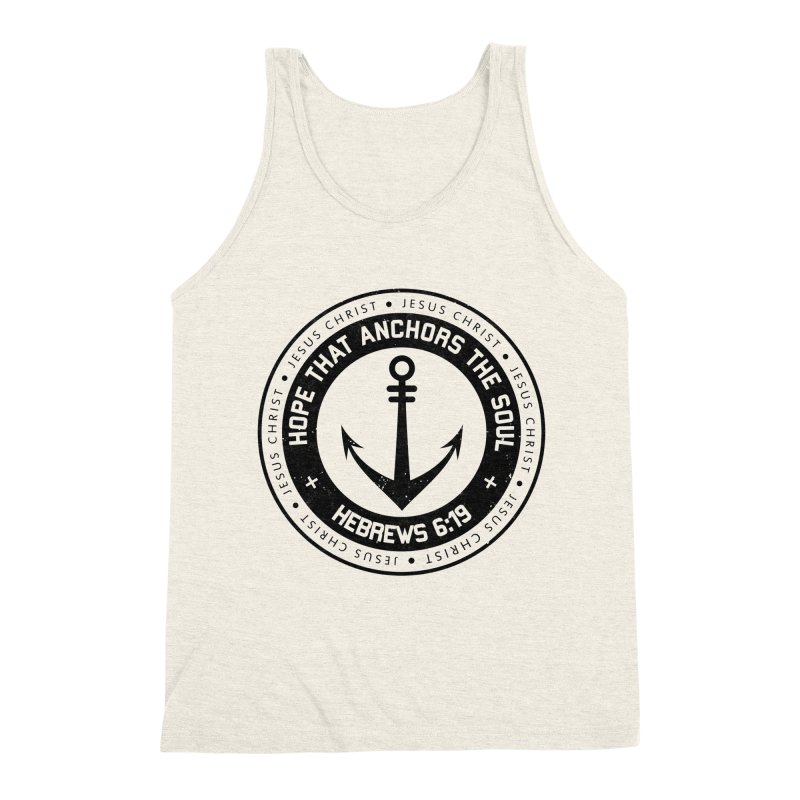 Hebrews 6:19 - Black Men's Triblend Tank by Light of the World Tees