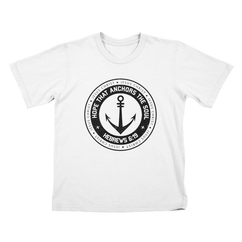 Hebrews 6:19 - Black Kids T-Shirt by Light of the World Tees