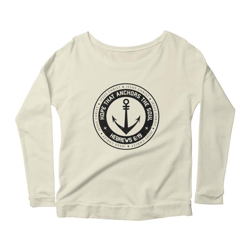 Hebrews 6:19 - Black Women's Scoop Neck Longsleeve T-Shirt by Light of the World Tees