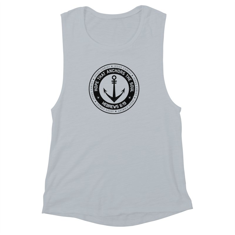 Hebrews 6:19 - Black Women's Muscle Tank by Light of the World Tees