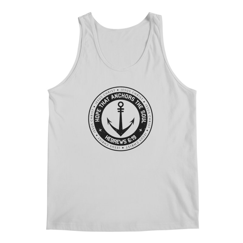 Hebrews 6:19 - Black Men's Regular Tank by Light of the World Tees