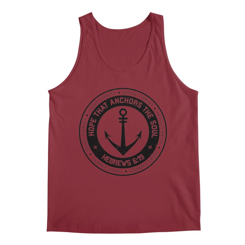 Hebrews 6:19 - Black Men's Tank by Light of the World Tees