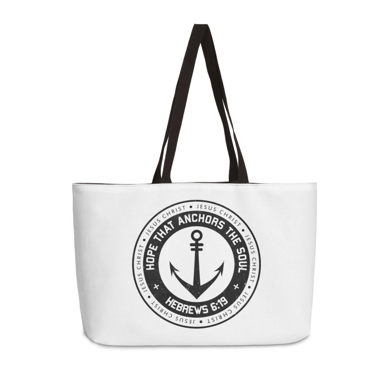 Hebrews 6:19 - Black Accessories Weekender Bag Bag by Light of the World Tees