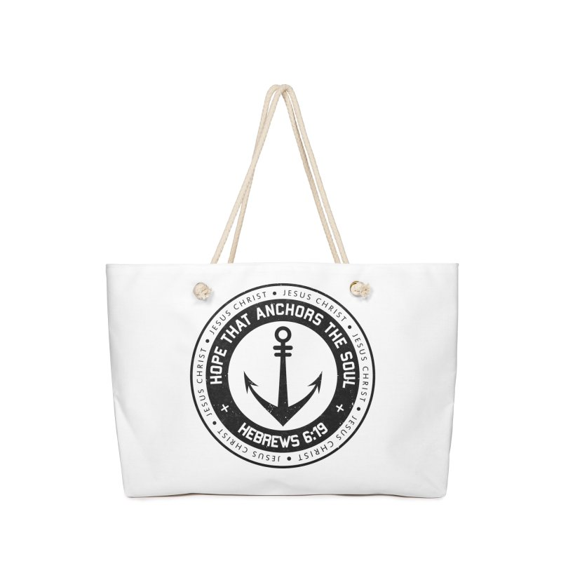 Hebrews 6:19 - Black Accessories Bag by Light of the World Tees