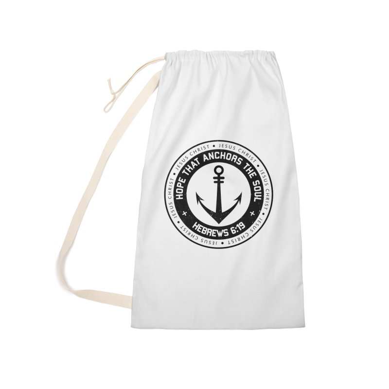 Hebrews 6:19 - Black Accessories Laundry Bag Bag by Light of the World Tees