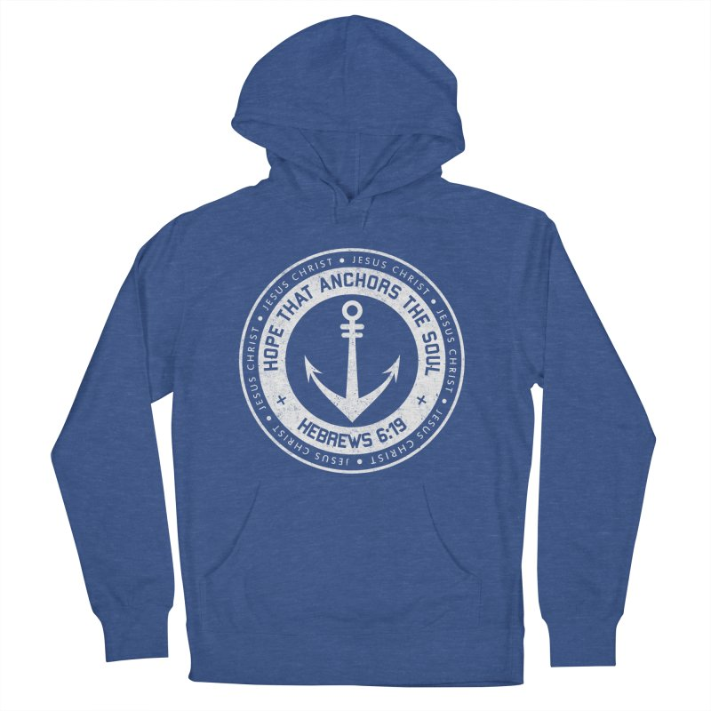 Hope Anchors the Soul - White Women's French Terry Pullover Hoody by Light of the World Tees