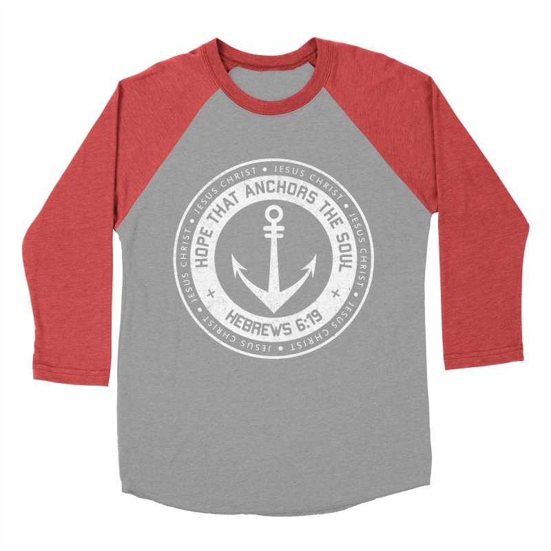 Hope Anchors the Soul - White Women's Baseball Triblend T-Shirt by Light of the World Tees