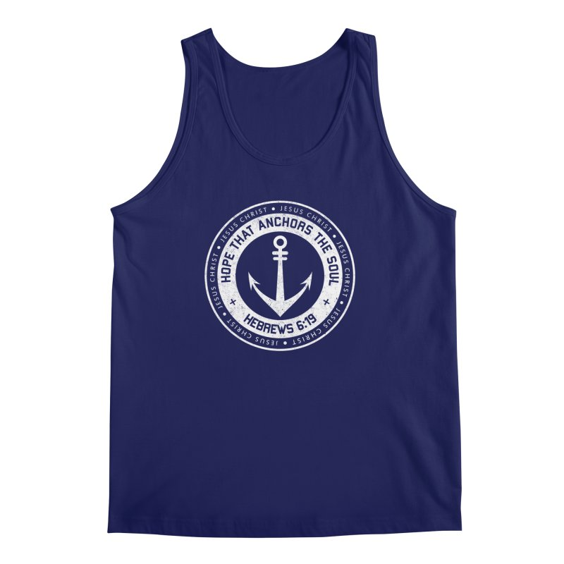 Hope Anchors the Soul - White Men's Regular Tank by Light of the World Tees