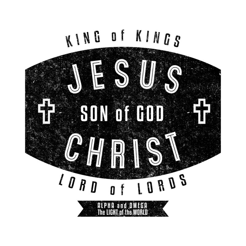 Jesus Christ, Son of God - King of Kings, Lord of Lords - Black Men's Zip-Up Hoody by Light of the World Tees