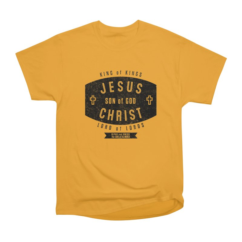Jesus Christ, Son of God - King of Kings, Lord of Lords - Black Men's Heavyweight T-Shirt by Light of the World Tees