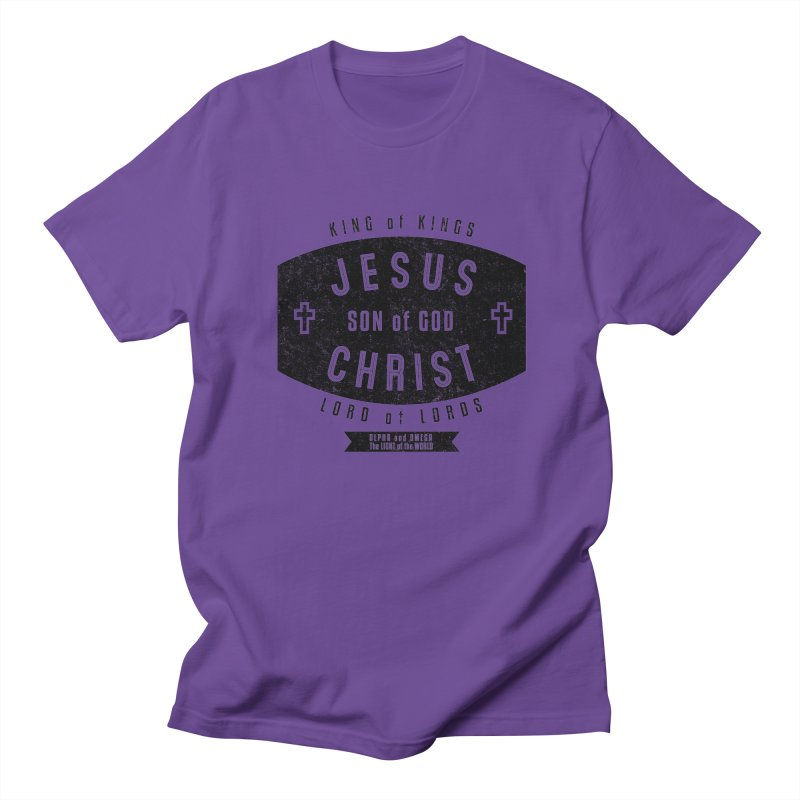 Jesus Christ, Son of God - King of Kings, Lord of Lords - Black Men's T-Shirt by Light of the World Tees