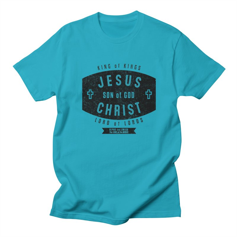 Jesus Christ, Son of God - King of Kings, Lord of Lords - Black Women's Regular Unisex T-Shirt by Light of the World Tees