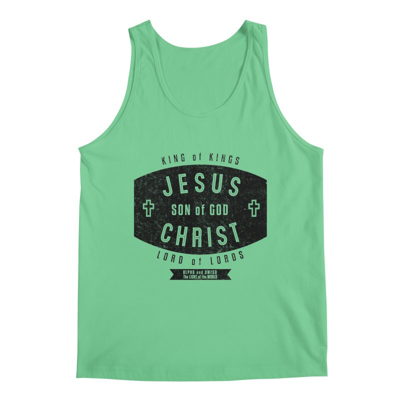 Jesus Christ, Son of God - King of Kings, Lord of Lords - Black Men's Tank by Light of the World Tees