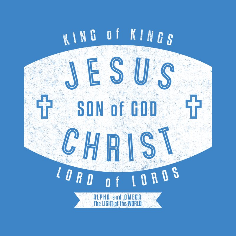 Jesus Christ, Son of God - King of Kings, Lord of Lords - White Men's T-Shirt by Light of the World Tees