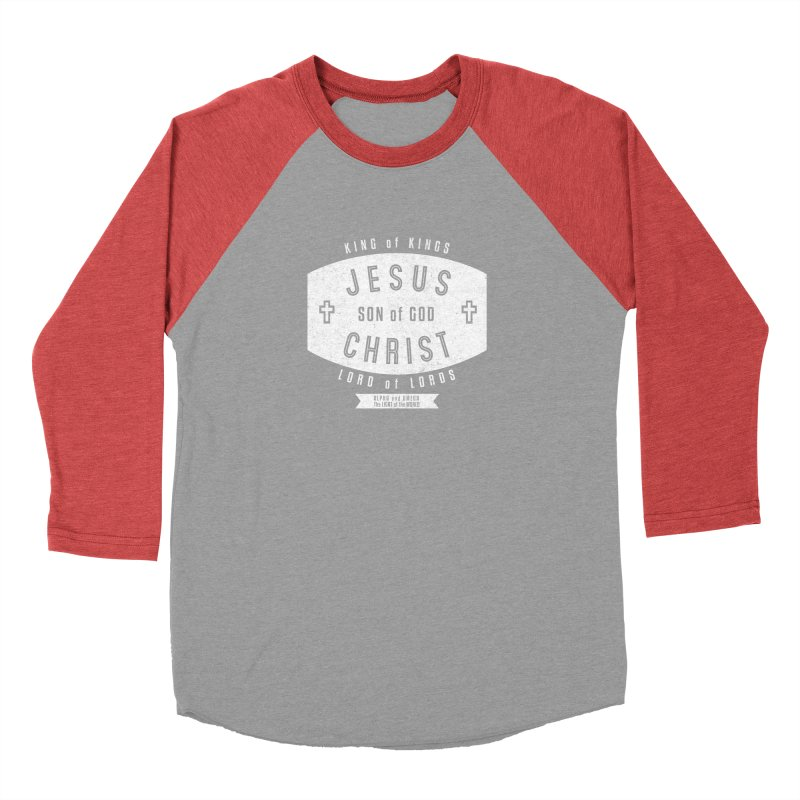 Jesus Christ, Son of God - King of Kings, Lord of Lords - White Men's Longsleeve T-Shirt by Light of the World Tees