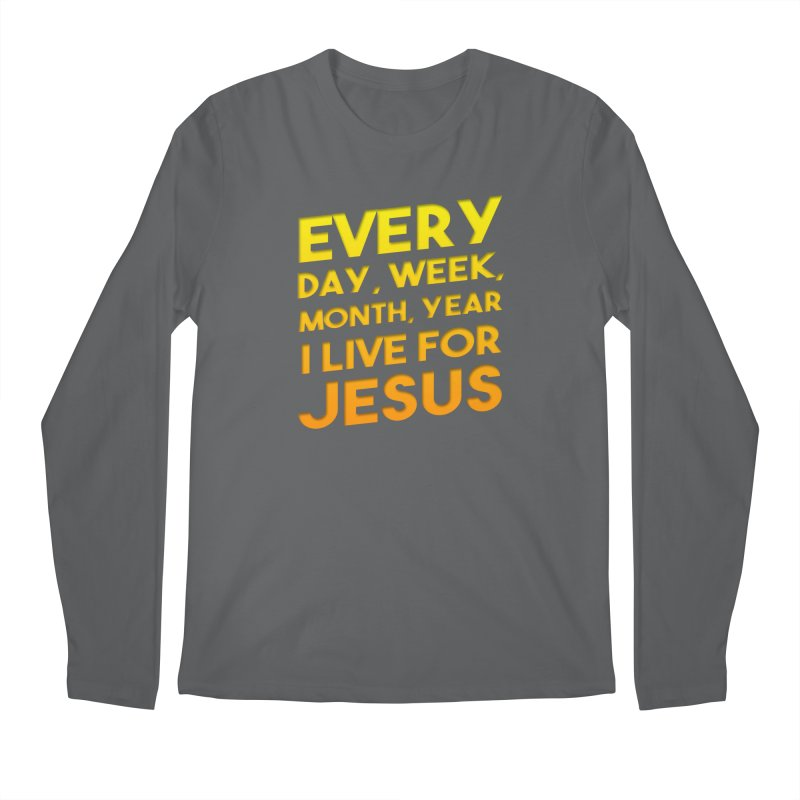 I Live For Jesus - Color Tees Men's Longsleeve T-Shirt by Light of the World Tees