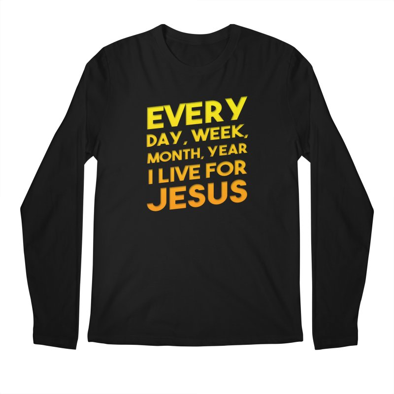 I Live For Jesus - Color Tees Men's Regular Longsleeve T-Shirt by Light of the World Tees
