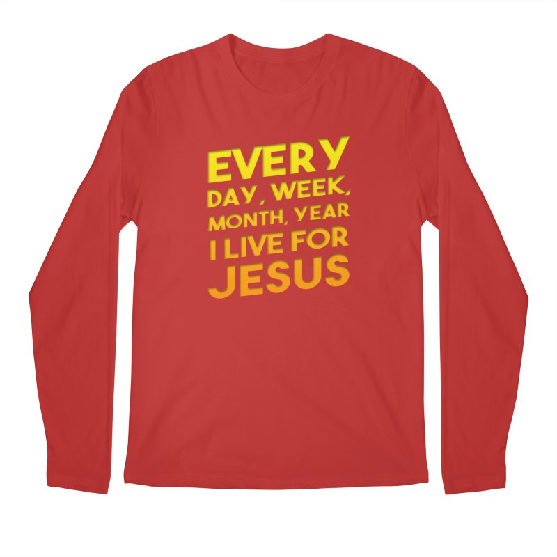 I Live For Jesus - Color Tees Men's Regular Longsleeve T-Shirt by Light of the World Tees