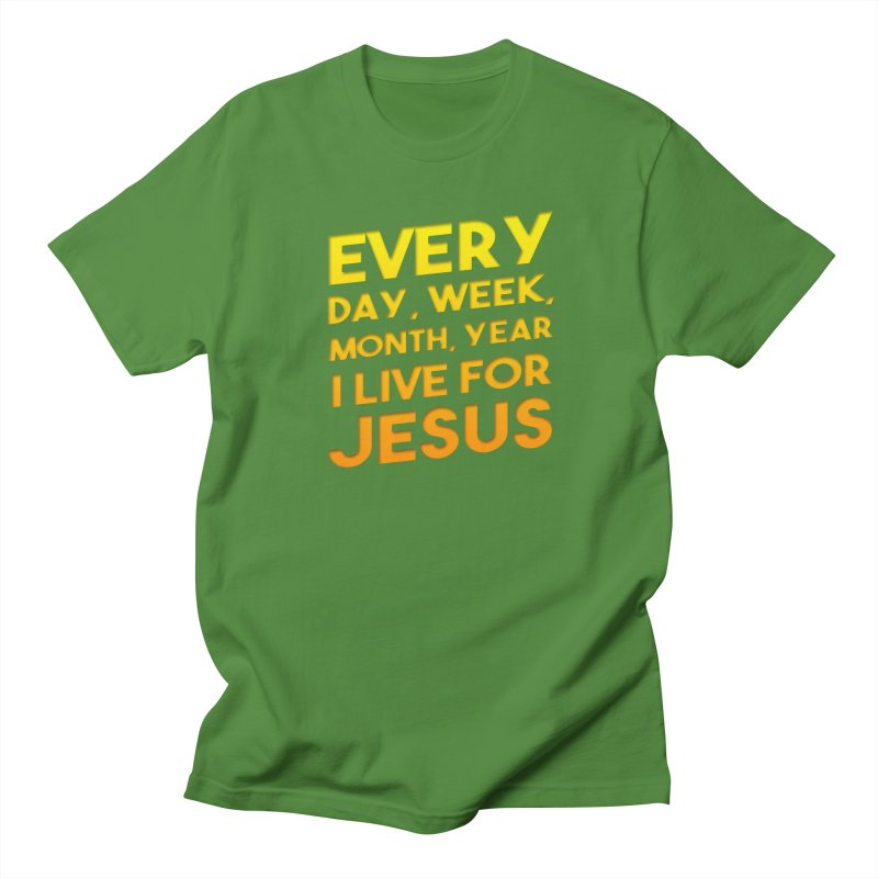 I Live For Jesus - Color Tees Men's Regular T-Shirt by Light of the World Tees