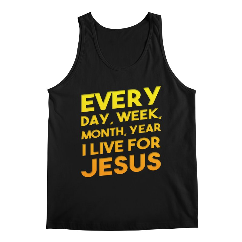 I Live For Jesus - Color Tees Men's Tank by Light of the World Tees