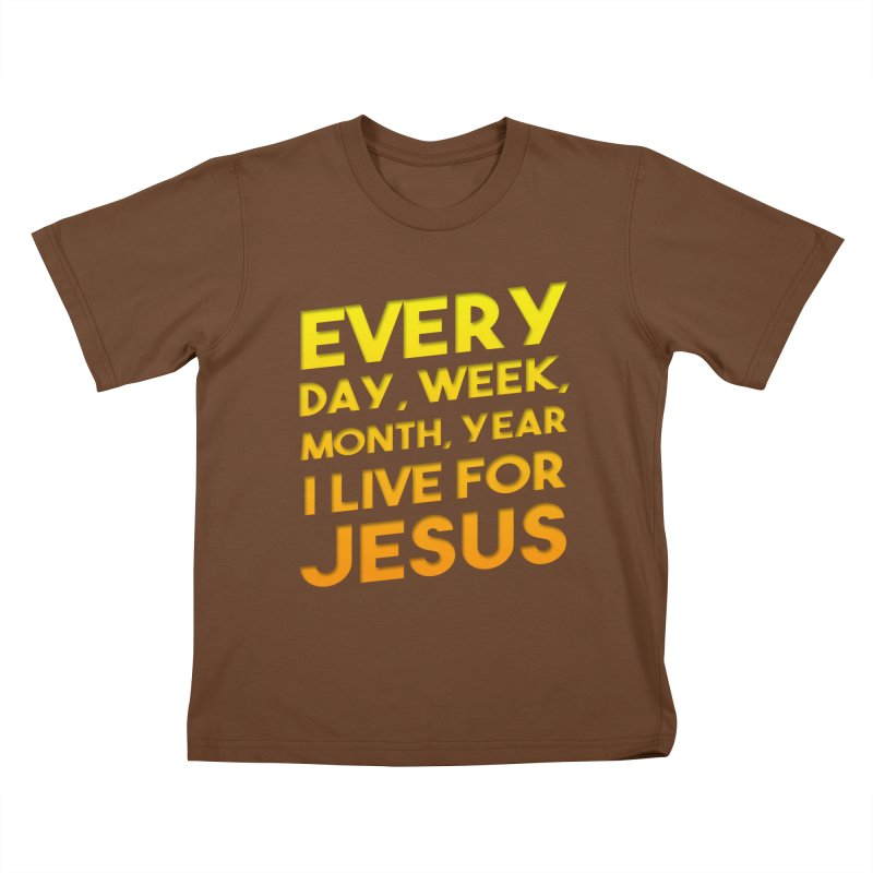 I Live For Jesus - Color Tees Kids T-Shirt by Light of the World Tees