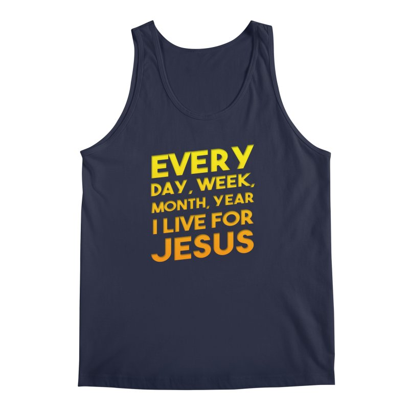 I Live For Jesus - Color Tees Men's Regular Tank by Light of the World Tees