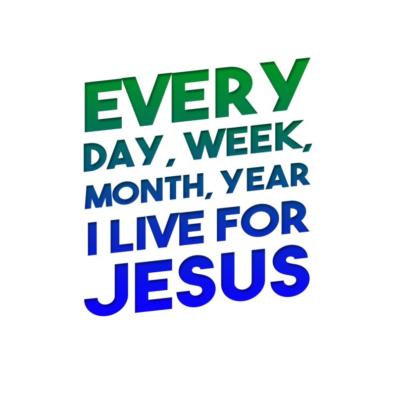 I Live For Jesus Home Duvet by Light of the World Tees