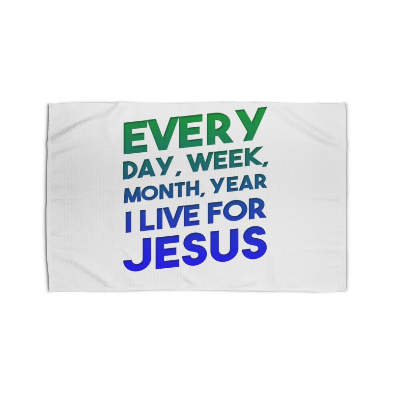 I Live For Jesus Home Rug by Light of the World Tees
