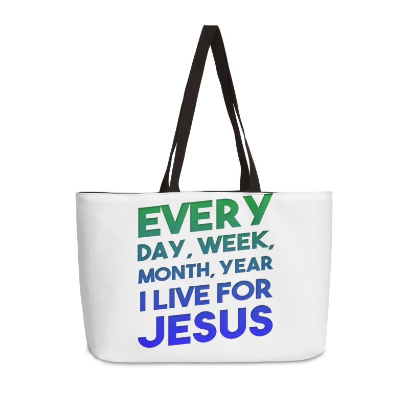 I Live For Jesus Accessories Weekender Bag Bag by Light of the World Tees