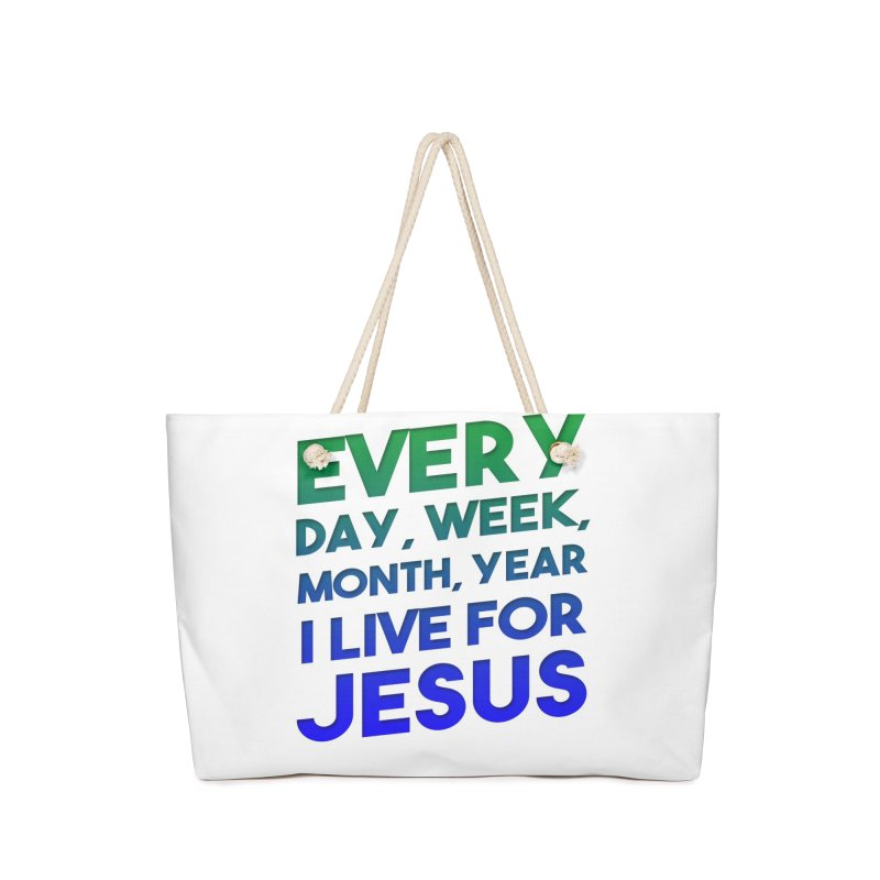 I Live For Jesus Accessories Bag by Light of the World Tees