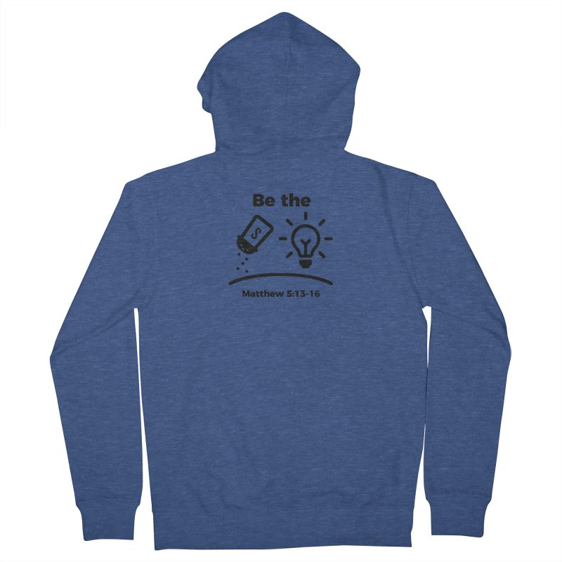 Salt and Light - Black Men's Zip-Up Hoody by Light of the World Tees