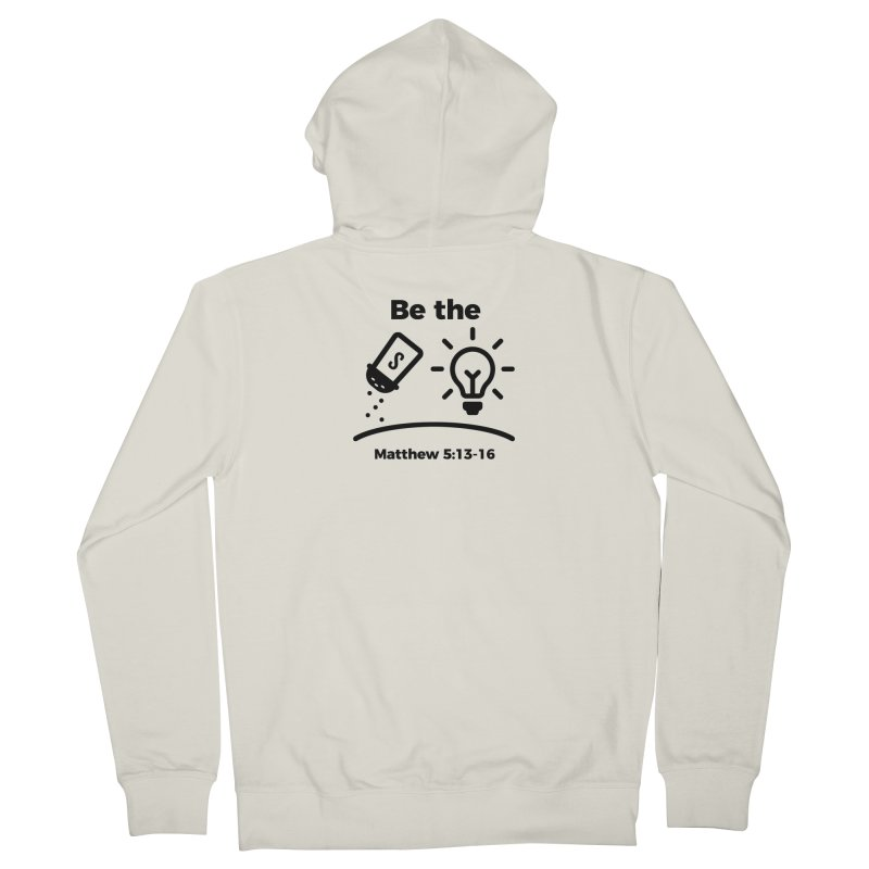 Salt and Light - Black Men's French Terry Zip-Up Hoody by Light of the World Tees