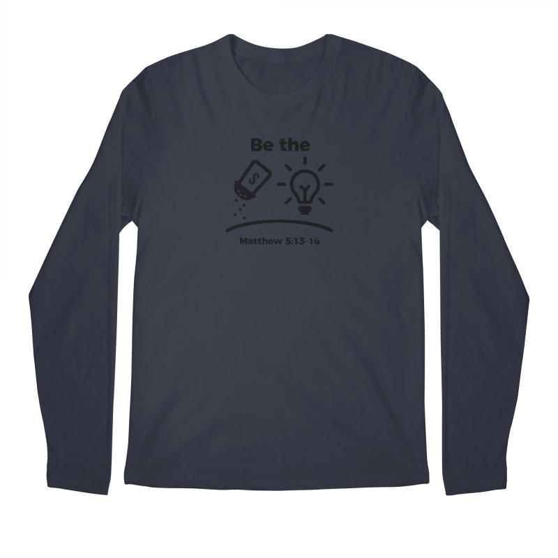 Salt and Light - Black Men's Regular Longsleeve T-Shirt by Light of the World Tees