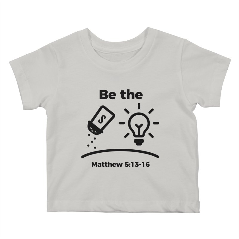 Salt and Light - Black Kids Baby T-Shirt by Light of the World Tees