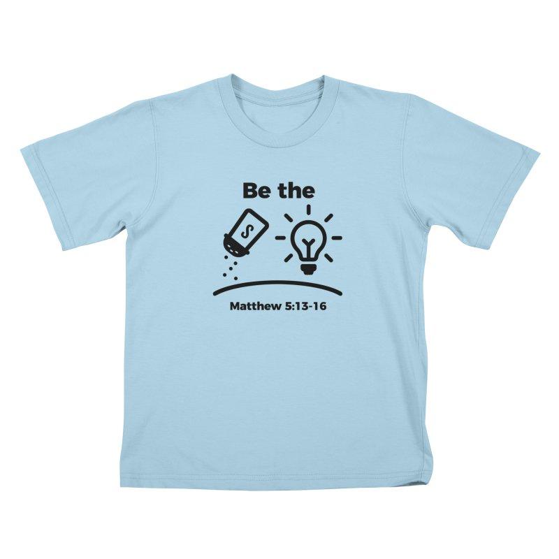 Salt and Light - Black Kids T-Shirt by Light of the World Tees