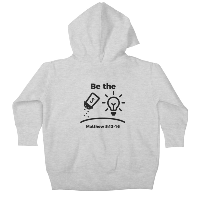 Salt and Light - Black Kids Baby Zip-Up Hoody by Light of the World Tees