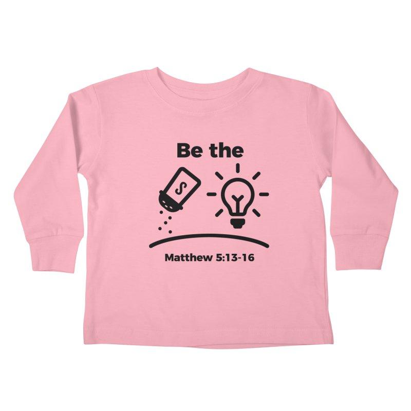 Salt and Light - Black Kids Toddler Longsleeve T-Shirt by Light of the World Tees