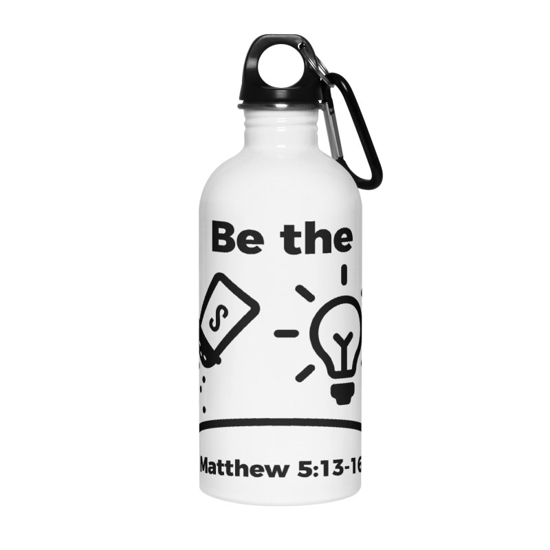 Salt and Light - Black Accessories Water Bottle by Light of the World Tees