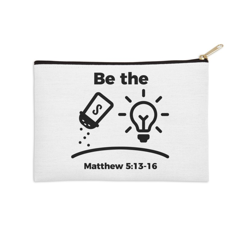 Salt and Light - Black Accessories Zip Pouch by Light of the World Tees