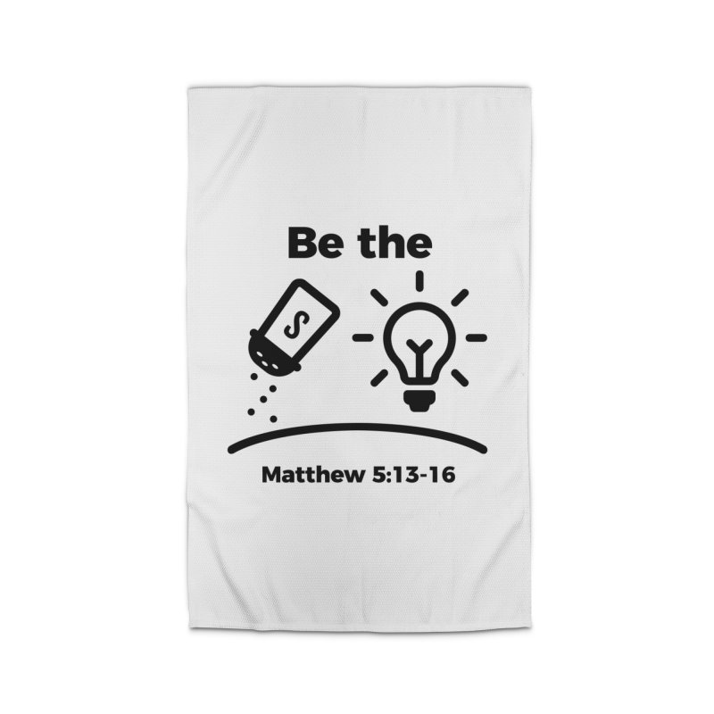 Salt and Light - Black Home Rug by Light of the World Tees
