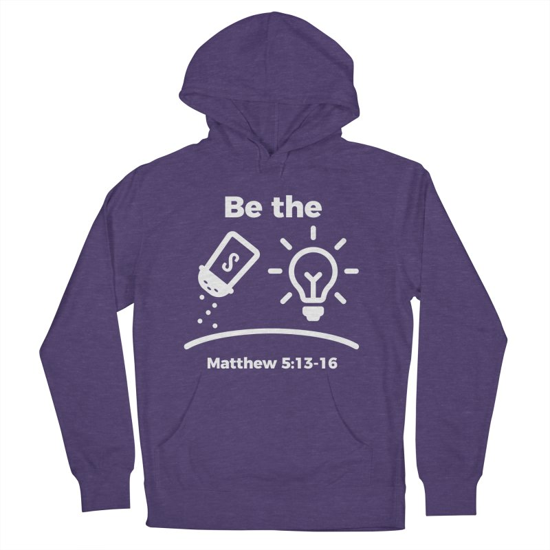 Be the Salt and Light - White Men's French Terry Pullover Hoody by Light of the World Tees