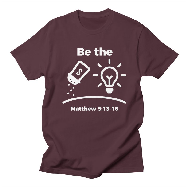 Be the Salt and Light - White Men's Regular T-Shirt by Light of the World Tees
