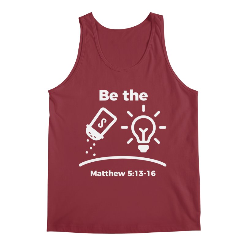 Be the Salt and Light - White Men's Tank by Light of the World Tees
