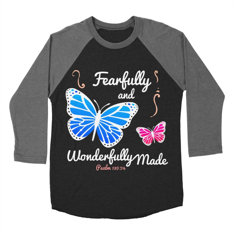 Fearfully and Wonderfully Made Women's Baseball Triblend Longsleeve T-Shirt by Light of the World Tees