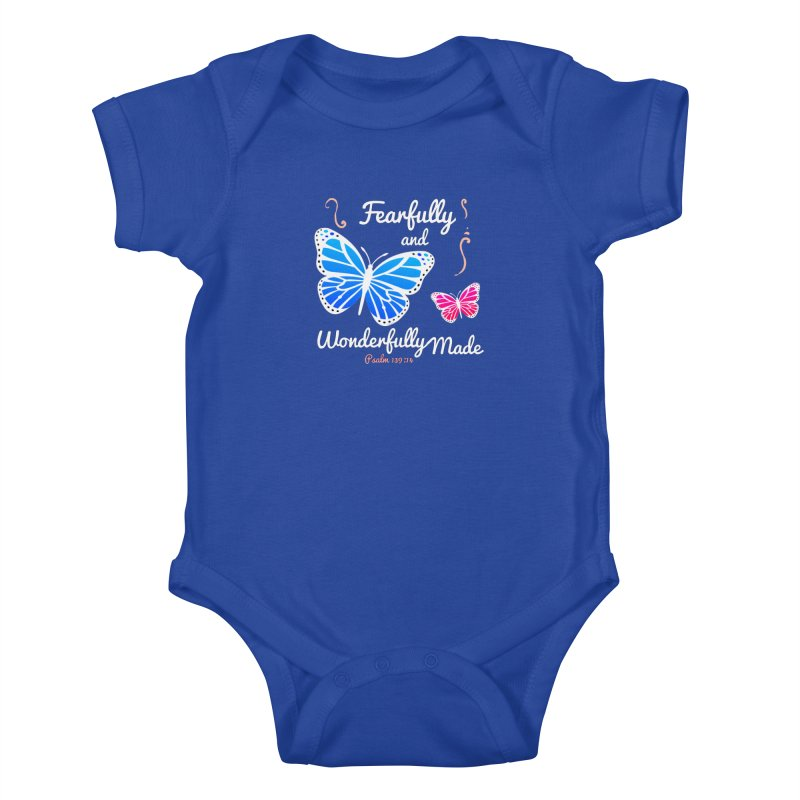 Fearfully and Wonderfully Made Kids Baby Bodysuit by Light of the World Tees