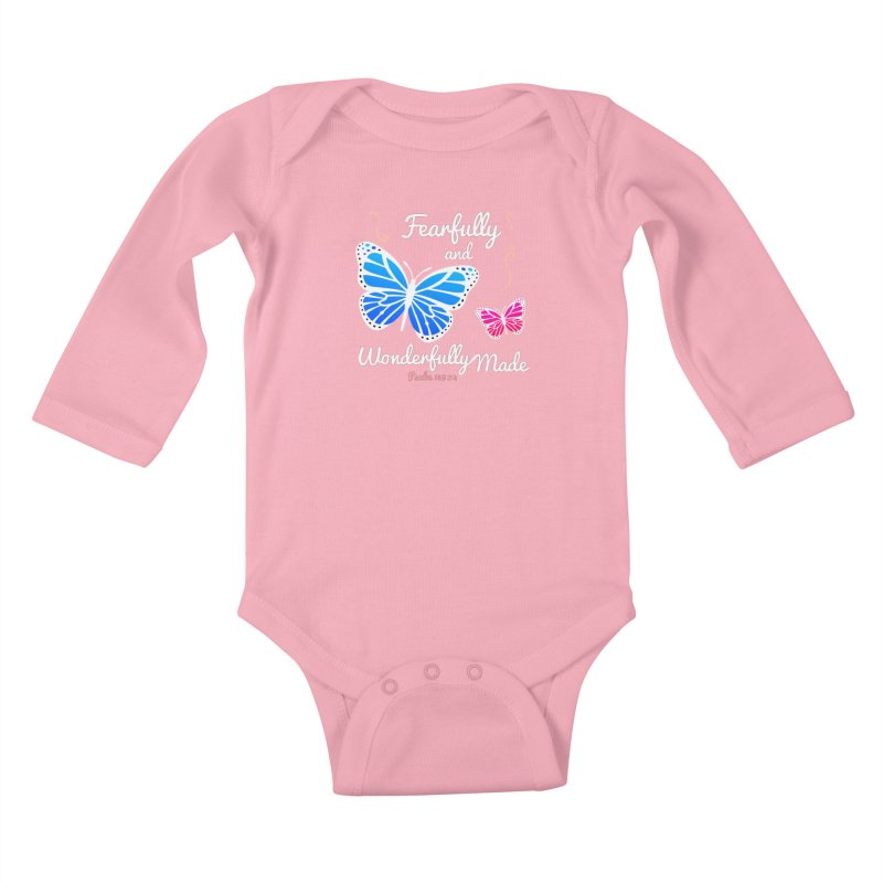 Fearfully and Wonderfully Made Kids Baby Longsleeve Bodysuit by Light of the World Tees