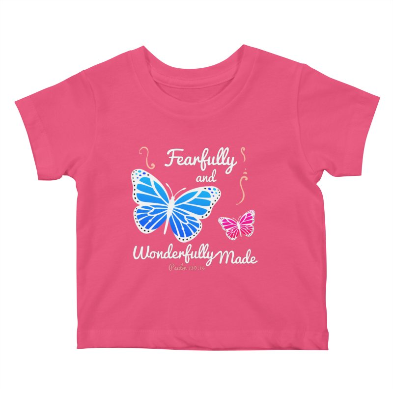 Fearfully and Wonderfully Made Kids Baby T-Shirt by Light of the World Tees