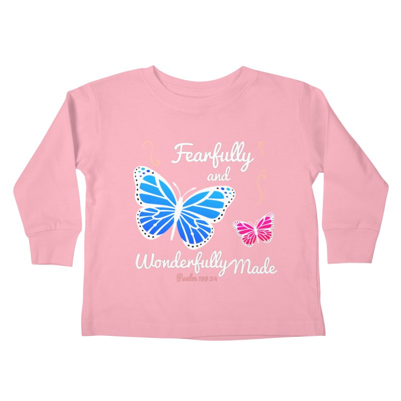 Fearfully and Wonderfully Made Kids Toddler Longsleeve T-Shirt by Light of the World Tees